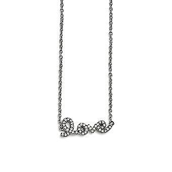 Roestvrij staal gepolijst Crystal Love Ketting 17 Inch Sieraden Geschenken voor vrouwen