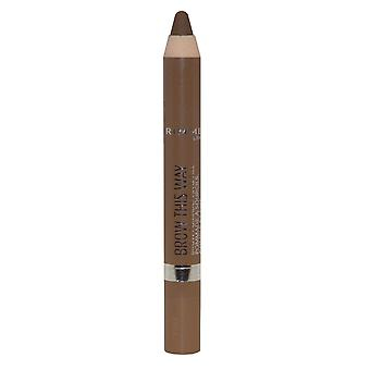 Rimmel London Brow de este modo Brow pomade Fix y Fill 3.25 g medio #002