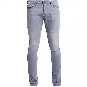 Diesel D-Luster Slim Stretch Denim Grey Washed Jeans 0095K