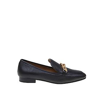 Tory Burch 60801006 Women's Black Leather Loafers