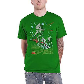 Star Wars T Camicia AT-ST Battaglia di Endor Archetype nuovo ufficiale Mens Green