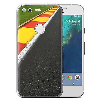 STUFF4 Gel TPU Case/Cover for Google Pixel (5.0'')/Apex/Chicane/Race Track Photo