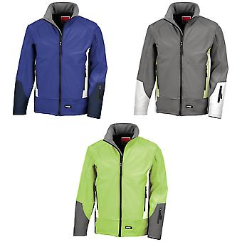 Result Mens Blade 3 Layer Softshell Performance Jacket (Water Resistant And Windproof)