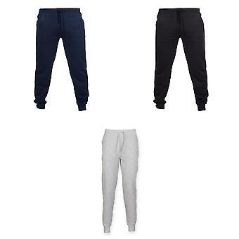Skinnifit Mens Slim Cuffed Jogging Bottoms/Trousers