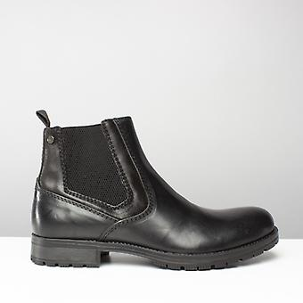 Jack & Jones Jfwcarston Combo Mens Leather Pull On Chelsea Boots Anthracite