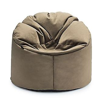 Loft 25� | Luxurious 'St.Clair' Velvet Classic Bean Bag Lounger (Mushroom)