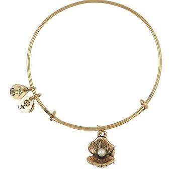 Alex și Ani Oyster Charm Rafaelian Gold Finish Bangle - A10EB141RG
