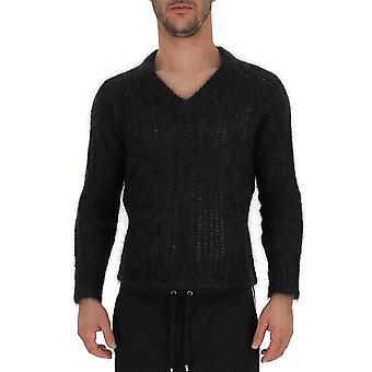 Prada Uma9921uz0f0308 Männer's grau Wolle Pullover