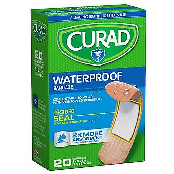 Curad bandages, waterproof, extra long, 1 inch x 3.25 inch, 20 ea