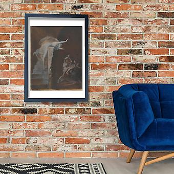 Henry Fuseli - Struggle of Theseus with the Minotaur Poster Print Giclee