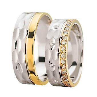 Bicolor wedding rings fantasy model