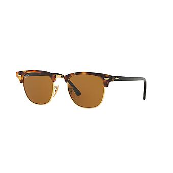 Ray-Ban Clubmaster RB3016 1160 Spotted Brown Havana/Brown Sunglasses