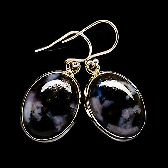 "Gabbro Earrings 1 1/4"" (925 Sterling Silver)  - Handmade Boho Vintage Jewelry EARR398825"