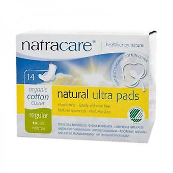 Natracare Regular Compresses with Wings 14 Units