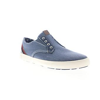 Ben Sherman Percy Laceless  Mens Blue Canvas Slip On Sneakers Shoes