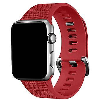 Apple Watch 38mm silikon armbånd rød