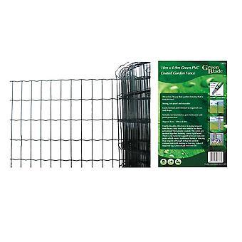 10 X 0.9 m grønn PVC belagt hage gjerde ledningen kanter fekting Net