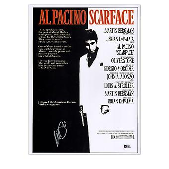 Al Pacino Signed Scarface Film Poster In Gift Box