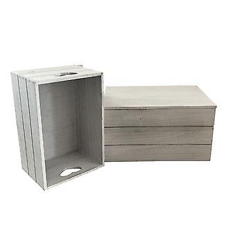 Large Vintage Effect Heart Cut Handle Wooden Lidded Storage Box