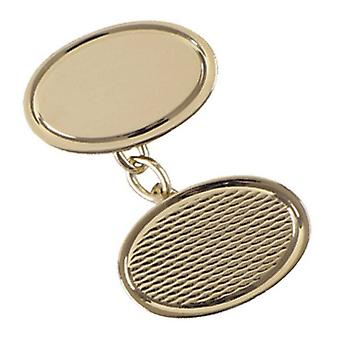 Orton West Textured Chain Cufflinks - Gold