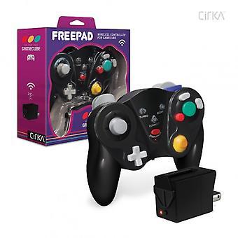 """FreePad"" Wireless Controller for Nintendo GameCube (Black) - CirKa"