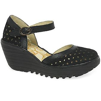 Fly London Yven Womens Wedge Heel Sandals