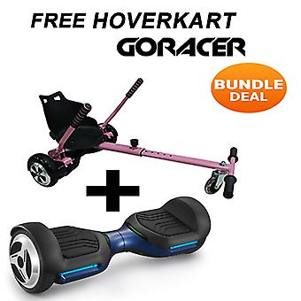 G PRO Blue Segway with a Racer Hoverkart in Pink