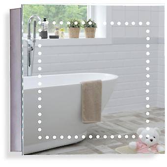LED Bathroom Mirror Cabinet 50cm(H) x 50cm(W) x 15cm(D) C18