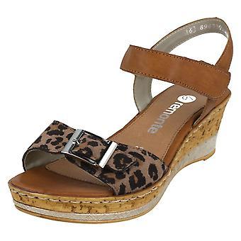 Ladies Remonte Wedge Sandals D4754