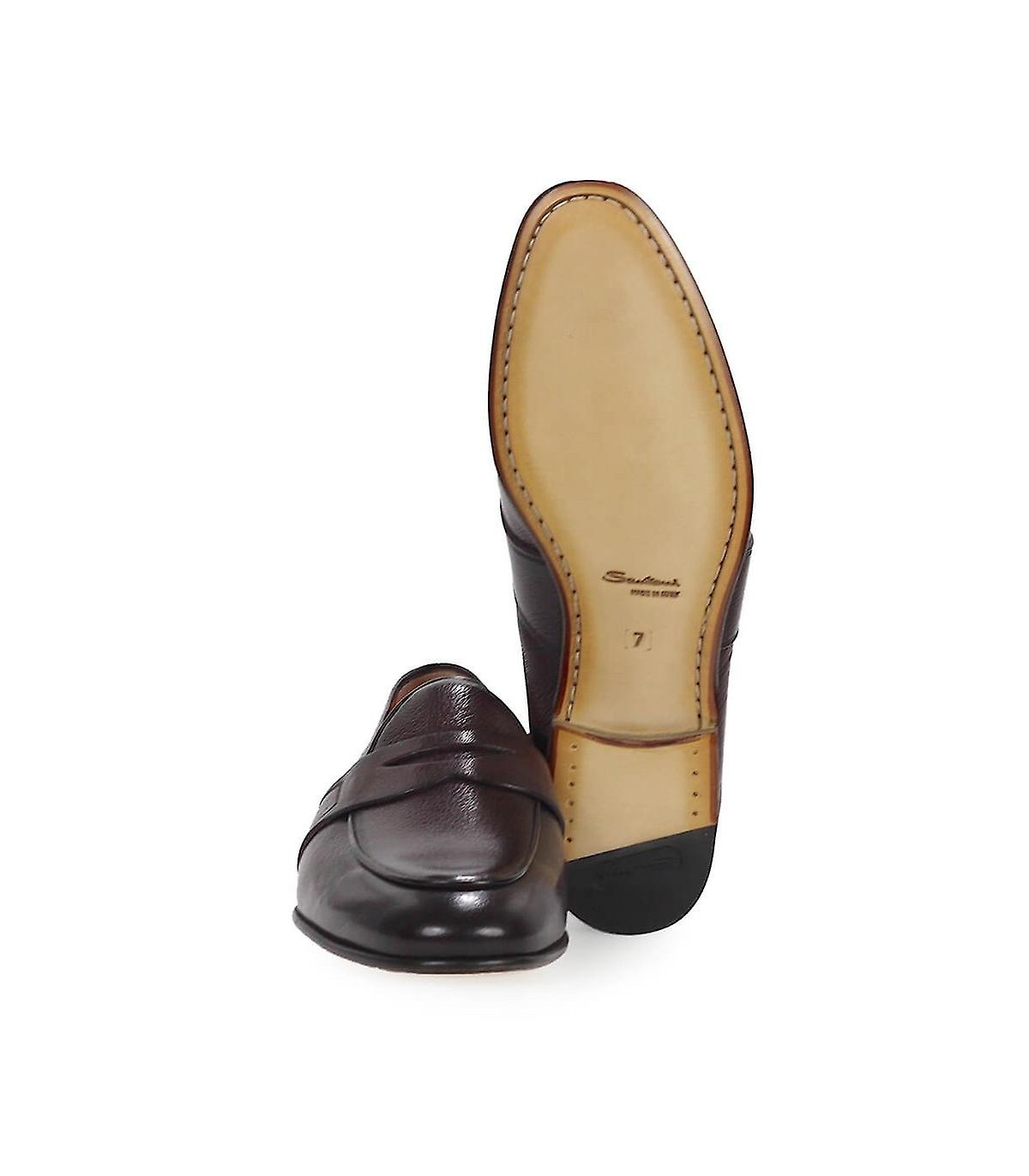 MOCASSINS MARRON FONCÉ SANTONI COLLEGE
