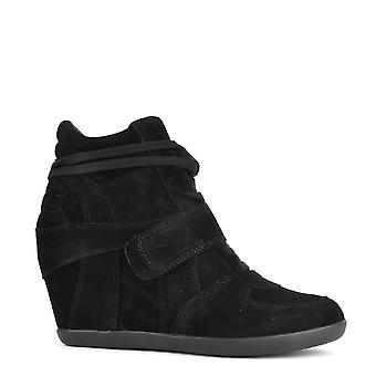 الرماد الأحذية باوي الأسود سويد إسفين المدربين