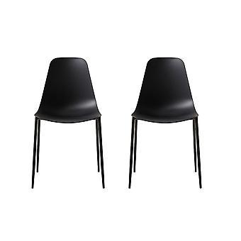 Schwarz Metall Farbe Antila Stuhl, PP 48.5x49x88 cm