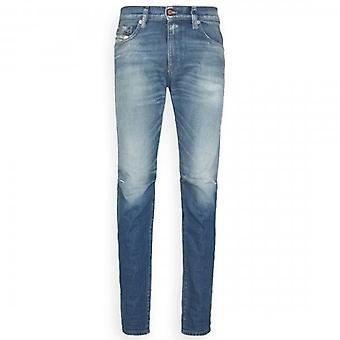 Diesel D-Strukt Light Blue Constructed Slim Denim Jeans 009HH