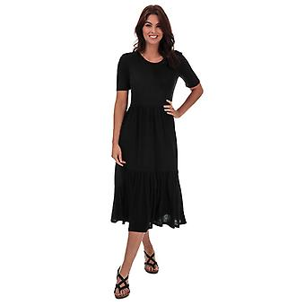Women's Jacqueline de Yong Dalila Frosty Maxi Dress in Black