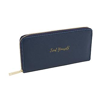 CGB Giftware Willow And Rose Treat Yourself Navy Wallet/Purse