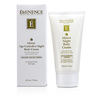 Monoi leeftijd corrigerende nacht body cream voor normale tot droge huid 164831 147ml/5oz