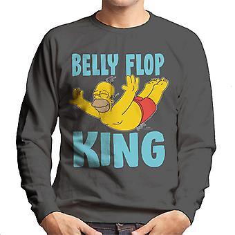 Simpsons Belly flop King Miesten College pusero