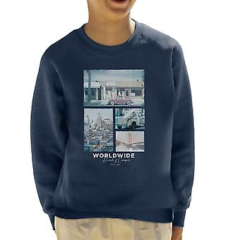 Teilen & erobern weltweit Retro Foto Kid's Sweatshirt