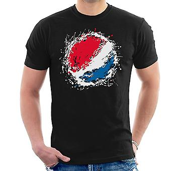 T-shirt uomo Logo Pepsi vernice spruzzata