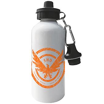 Tom Clancy Distressed Orange Logo Extrema Remedia Aluminium Sports Water Bottle