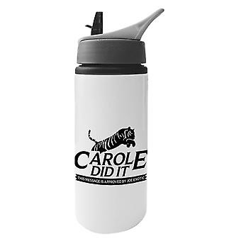 Tiger King Carole Did It Rescue Logo Joe Exotic Aluminium Water Bottle With Straw