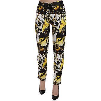 Versace Jeans Multicolor Print Trousers Baroque Pants
