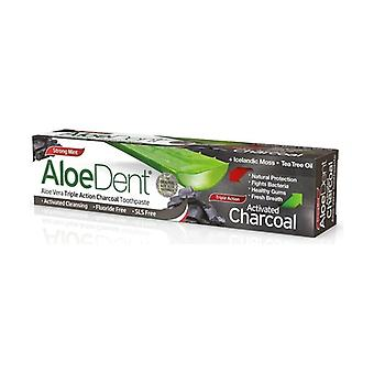 Aloedent Triple Action Toothpaste Activated Charcoal 100 ml