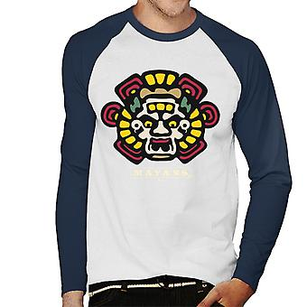 Mayans M.C. Motorcycle Club Face Colour Logo Emblem Men's Baseball Long Sleeved T-Shirt