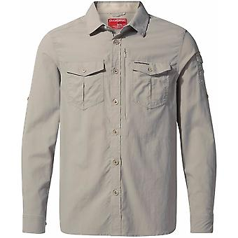 Craghoppers Mens NosiLife Adventure Long Sleeved Shirt XL Parchment