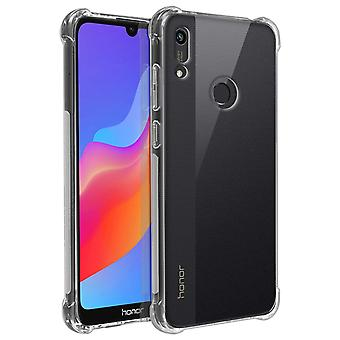 Back Cover for Honor 8A/Huawei Y6S/Y6 2019 Reinforced Angles Akashi -Transparent