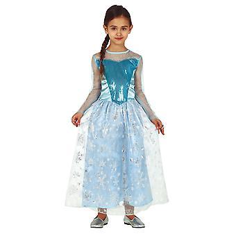 Meisjes Blue Snow Princess Fancy Dress Kostuum