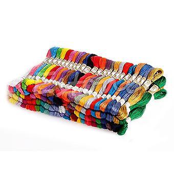 100 pcs multicolores, hilo de bordado de punto cruzado