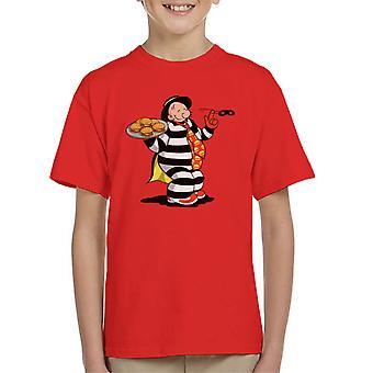 Theft Wimpy Hamburgler Popeye McDonalds Kid's T-paita