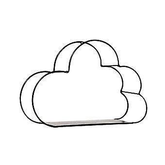 Cloud Shape Storage WandhängenRegal Schwarz